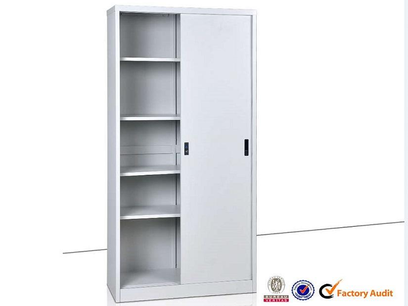 Armoire haute portes coulissantes 900 mobilier plus - Armoire metallique porte coulissante ...